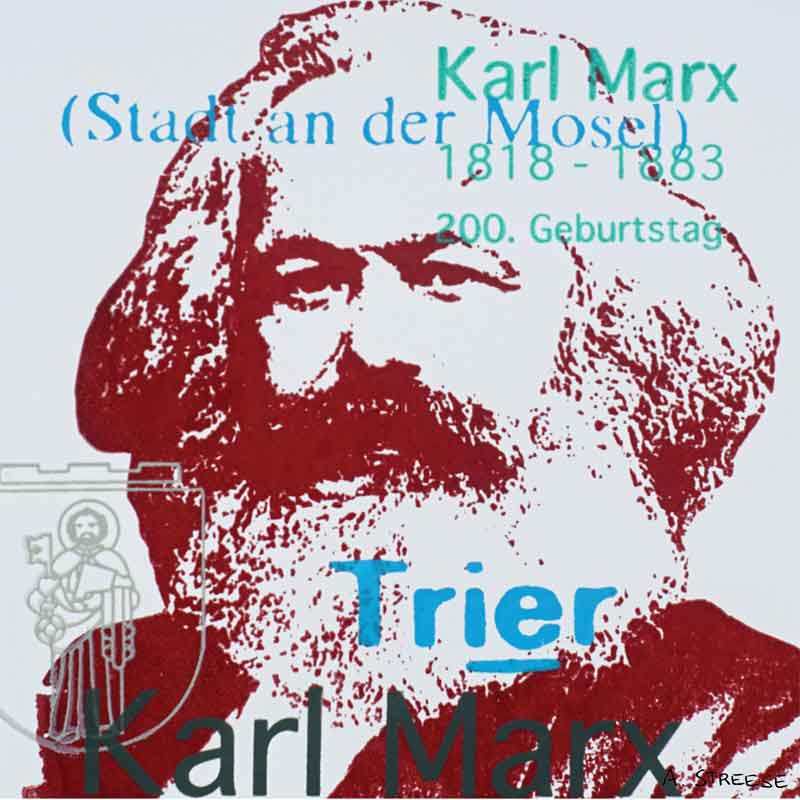 Karl Marx Trier, blutrot