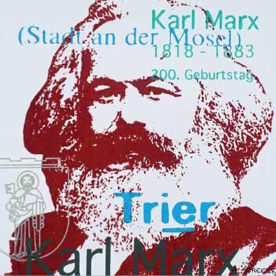 Karl Marx Blutrot 5 x 5 Magnet