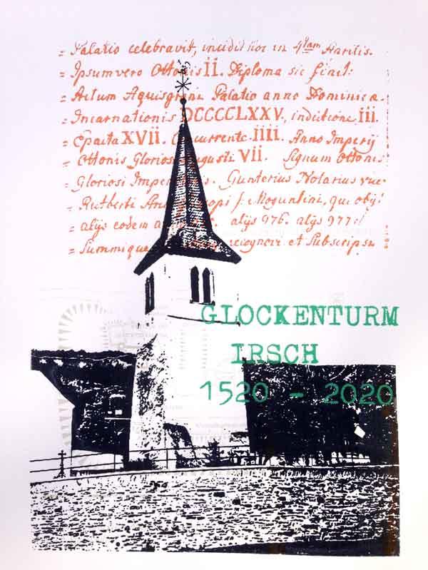 Glockenturm Irsch Siebdruck