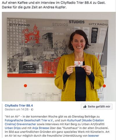 Anja Streese Cityradio Trier