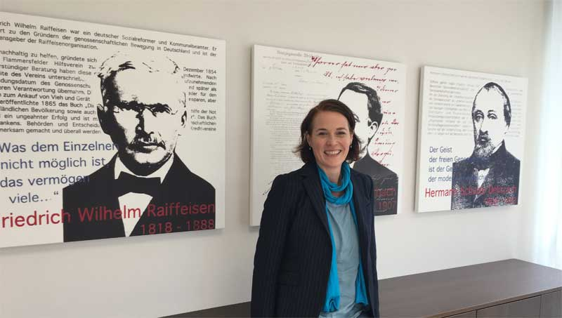 Volksbank Trier Gründerväter Anja Streese