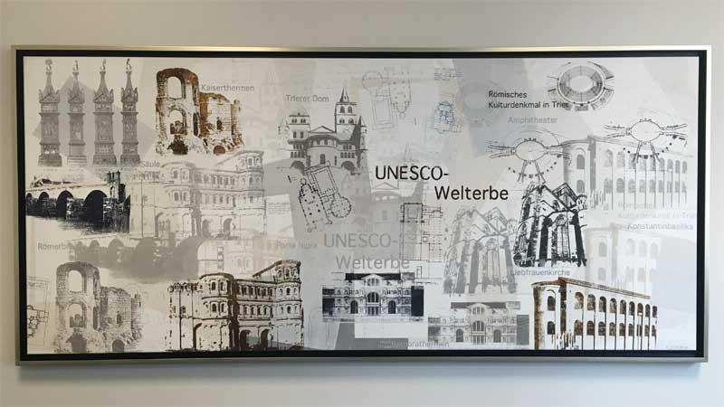 Volksbank Trier Siebdruck Unesco Trier