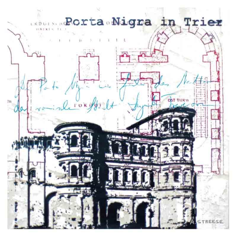 Postkarte Trier Porta-Nigra