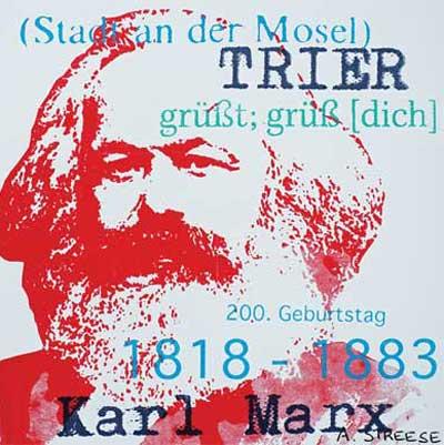 Karl Marx Rot 5 x 5 Magnet